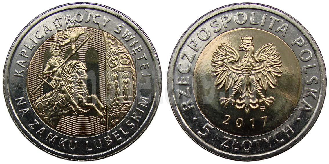 Монеты польши 5 злотых 2017 года republik osterreich перевод